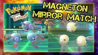 Pokemon Lets Go Pikachu and Eevee Singles Wifi Battle - Magneton Mirror Match