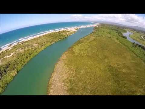 Situación de la boca del Río Yásica en Cabarete Puerto Plata 10/08/2015