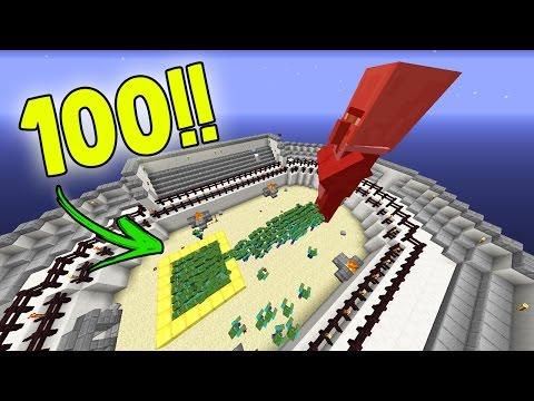 100 ZOMBIES VS VILLAGER GIGANTE!! QUEM GANHOU?