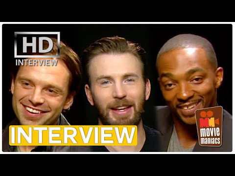 First Date with Captain America - Civil War Interview (2016) Chris Evans Anthony Mackie