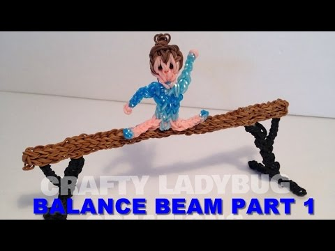Rainbow Loom BandsBALANCE BEAM PART 1 How to Make by Crafty Ladybug