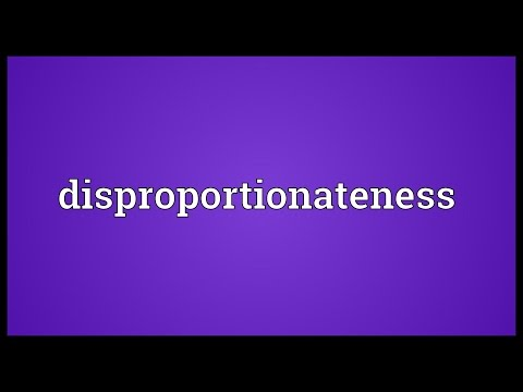 Header of disproportionateness