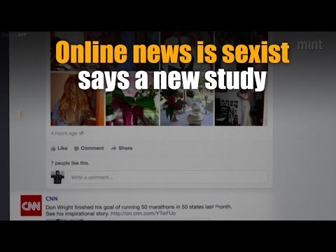 Women are 'eye candy', not news sources, online