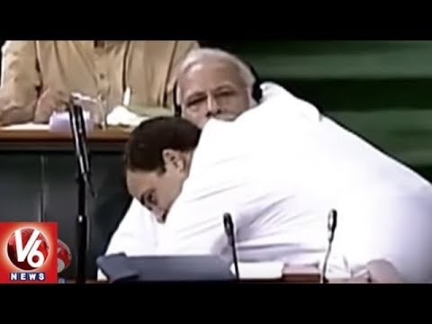 Rahul Gandhi Steals The Show In Parliament During No Confidence Motion Debate | V6 News