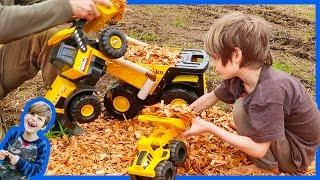 Construction Trucks Haul Wood Chips
