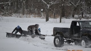 Snow, 4x4, Tow Strap, Old Bed Liner and Hood and a GoPro