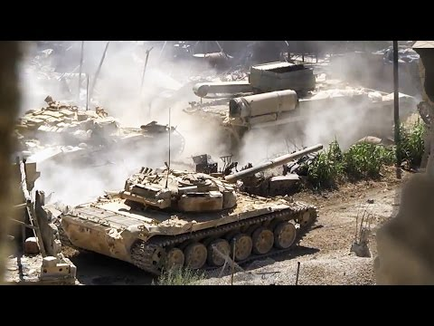 ᴴᴰ Tank with GoPro™ gets multiple Hits in Jobar Syria ** Subtitles **