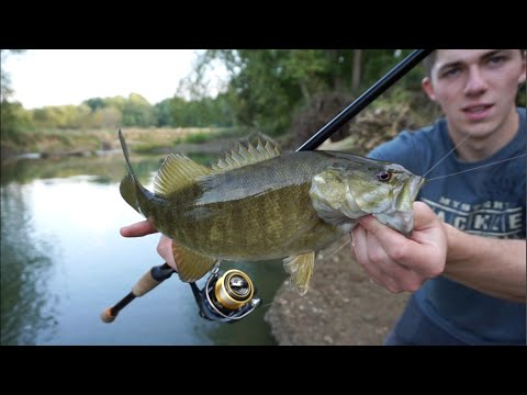 Creek Fishing Smallmouth Bass -- VLOG #8
