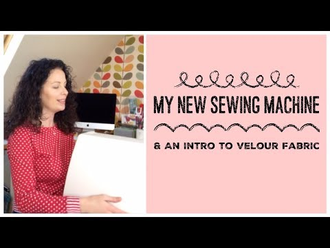 My New Sewing Machine and an Intro to Velour Fabric
