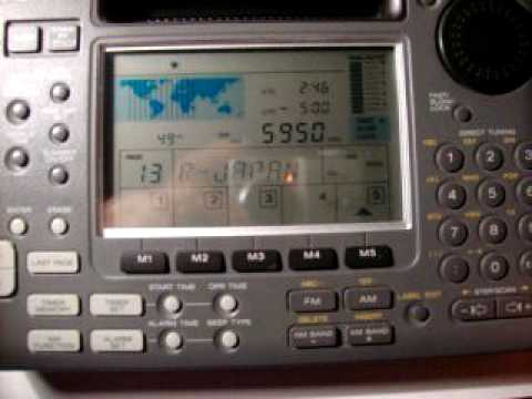 SONY ICF-SW55 receiving Radio Taiwan International