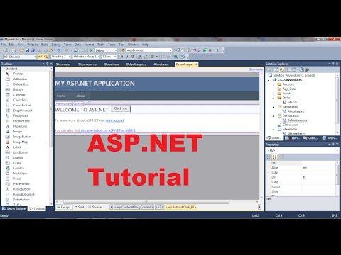 Asp.net Tutorial 1- Introduction And Creating Your First Asp.net Web Site video
