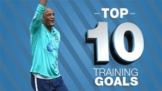 Top 10 Man City Training Ground Goals 2015