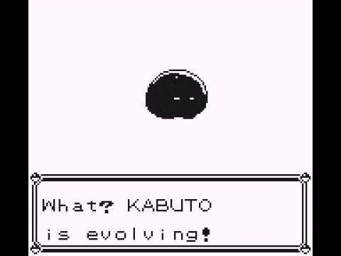 Kabuto Evolves Yellow Kabuto Evolving