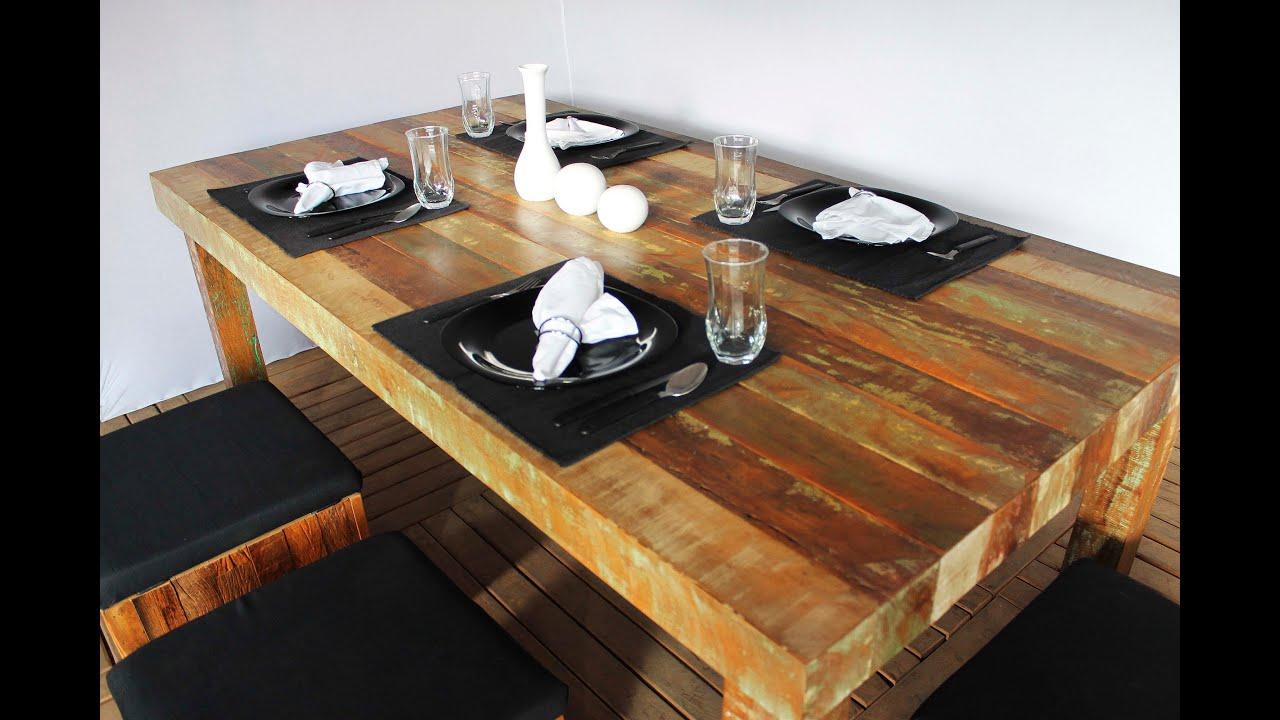 Mesa de Jantar Pés Madeira Móveis Rústicos   #996832 3000x2000