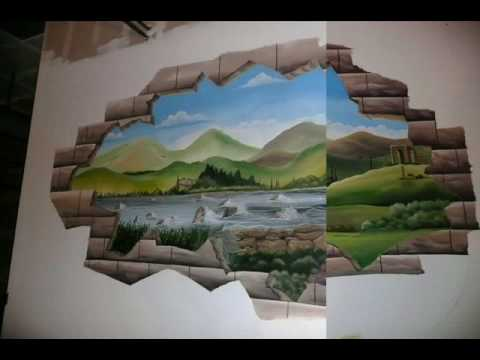 Pinturas art sticas em paredes youtube - Pinturas especiales para paredes ...