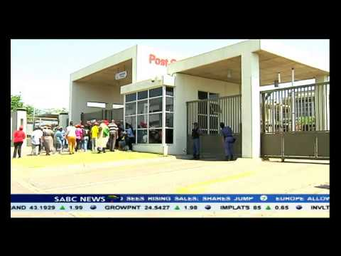 Striking CWU members took their grievances to the SA Post Office offices