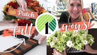 DOLLAR TREE FALL DIYS... for lazy people! 🍂🍁 (under 5 minutes and under $10!)