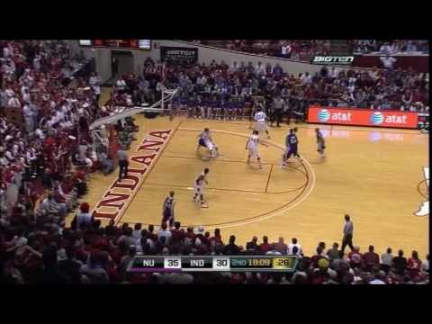 Northwestern Wildcats Basketball vs. Indiana Hoosiers - 2/25/09 Video