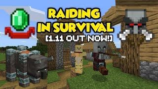 Minecraft's NEW Mini Boss (Pillager Raid) - FIRST Time In Survival