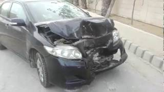 Car accident in DHA Shabaz 18th June '18