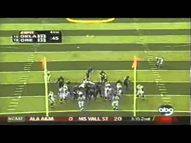 Oregon WR Brian Paysinger 24 yard touchdown catch vs. Oklahoma 9-16-06