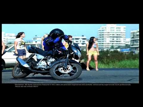 Bajaj Pulsar - Awesome Stunts Music Video (hd) video