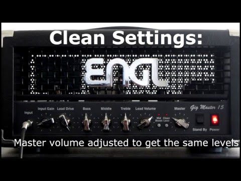 ENGL Gigmaster 15 - Tones at different power levels?