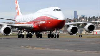 Boeing 747-8 Intercontinental Pulls In After First Landing - (747-8I)