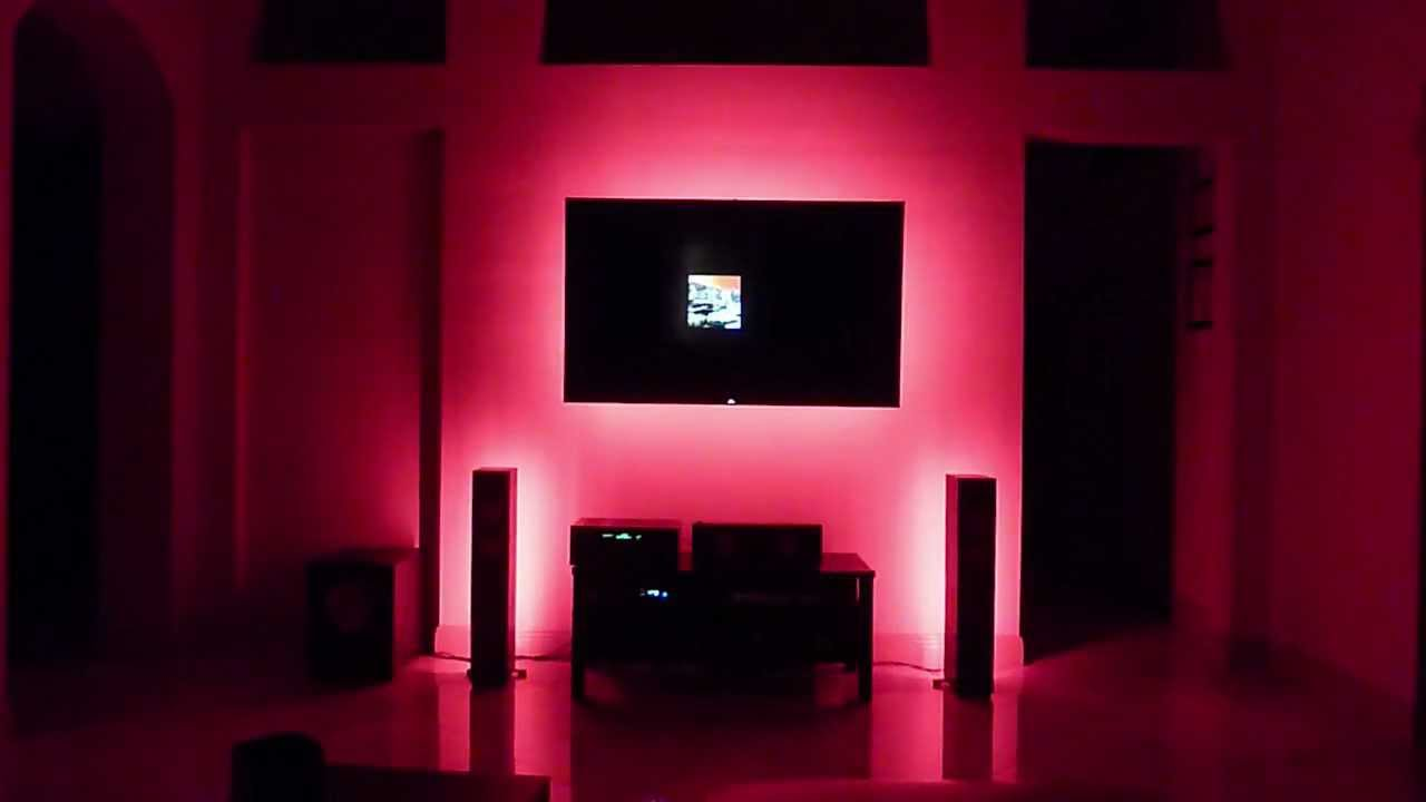 Led Lighting Behind Tv S Speakers And Under Cabinets