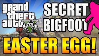 GTA 5 - Bigfoot/Sasquatch EASTER EGG! - How To Find Bigfoot in Grand Theft Auto 5!