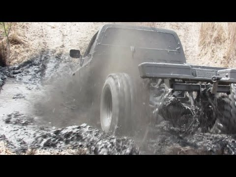 Black 4x4 Truck Mudding AT Oakville Mud Bog