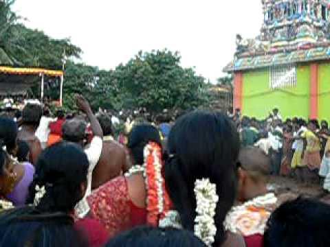 Village Ediyanchaavadi Tamil Nadu : Running on a bed of Hot coal.
