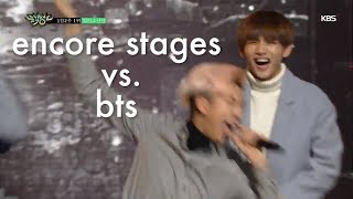 bts being weird during encore stages
