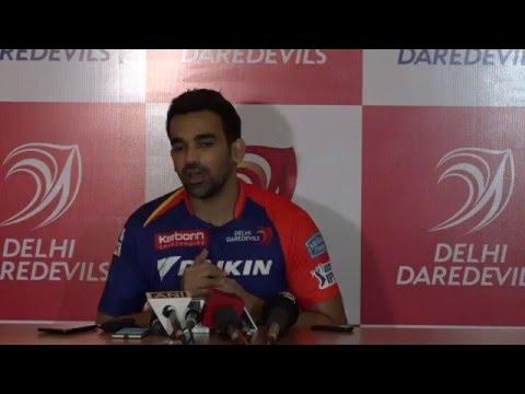DD new captain Zaheer Khan live from the press conference at Novotel New Delhi Aerocity.