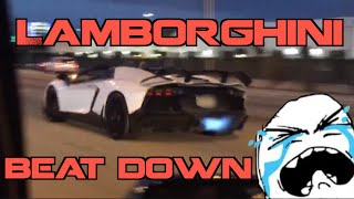 Kids in Lamborghini get SPANKED by Turbo Supra on Highway!