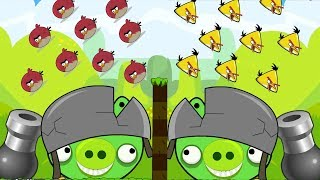 Angry Birds Cannon Collection 1 - BLAST PIGGIES WITH 100 BIRDS AND STONE!