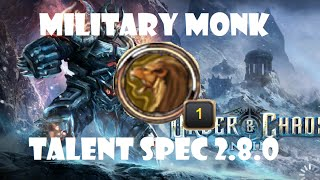 Military Monk Talent Spec + 2v2 Arena Gameplay: Order and Chaos 2.8.1