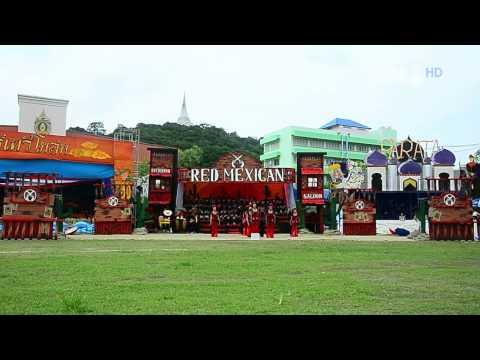 การแสดงกองเชียร์ พรหมาฯ '57 - สีแดง