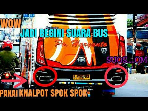 Suara knalpot bus po haryanto tiada duanya...sous spok spok