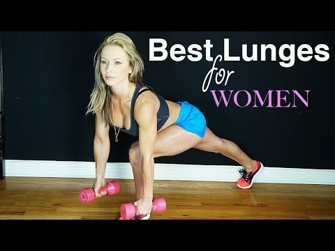 The Best Lunges for Women - Easier on Your Knees Hard on your Butt