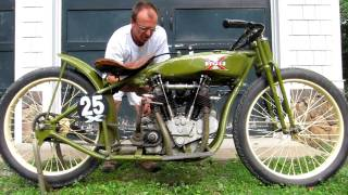 1925 Super X Board Track Racer  Start Up