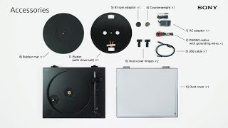 How to use PS-HX500: Assembling the turntable