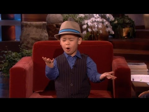 Four-year-old Youtube Sensation Sings For Ellen! video