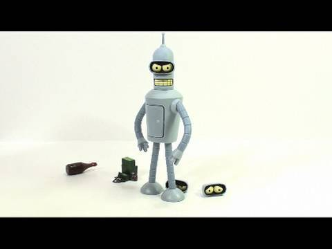 Video Review of the Toynami, Futurama Series 3 figure; Bender