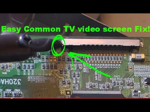 Common easy LCD TV fix: bad picture screen rainbow colors