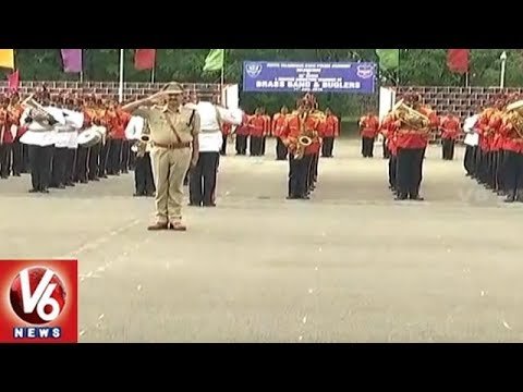 35th Police Brass Band Passing Out Parade Grandly Held In Hyderabad | V6 News