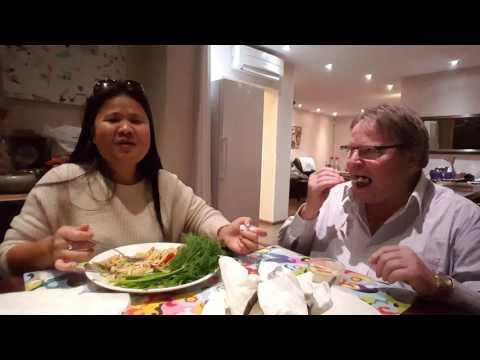 ทานตำซั่วกุ้งสดแซ่บๆVSปลาไหลลุงฮั้น ครัวออลแลนด์