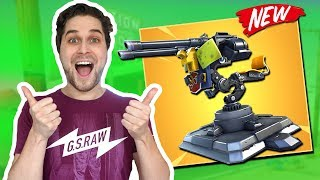 *NEW* Mounted Turret Doet Mega Veel Damage!🔥 - Fortnite Food Battle