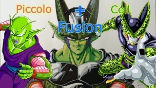 Fusion Drawing Piccolo+Cell DragonBall Anime HowToDraw ?? ???+? ???