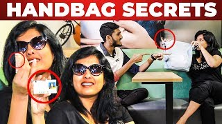 Only 10 Rs in Gayathri Raghuram's HANDBAG | What's Inside the Handbag | Bigg Boss